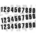 Numéros course Noir 6 – 130x70